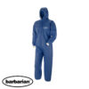 blue coverall